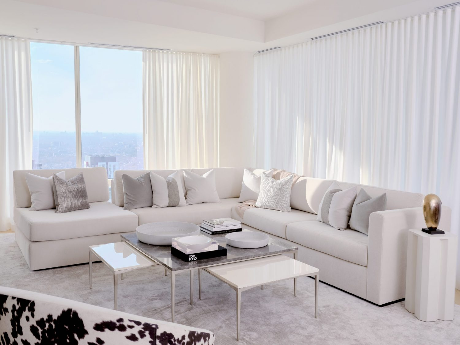 Bright and airy living room design